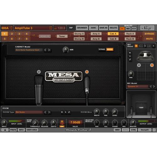 IK Multimedia AmpliTube MESA/Boogie - Guitar Amplifier and Cabinet Emulation Software (Download)