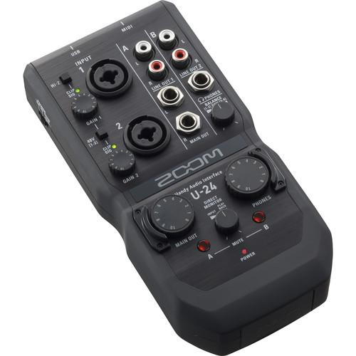 ZOOM U-24 HANDY 4-IN4-OUT AUDIO INTERFACE