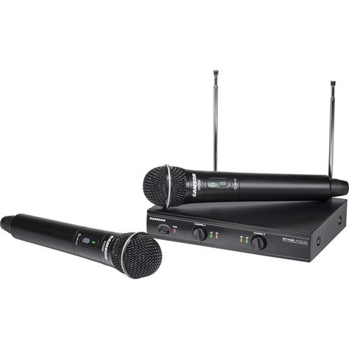 SAMSON SWS200HH-D SAMSONSTAGE 200 DUAL-CHANNEL HANDHELD VHF WIRELESS SYSTEM CHANNEL D