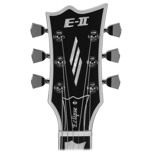 Esp E-Ii Eclipse Ec-Bb Electric Guitar Black Satin - Red One Music