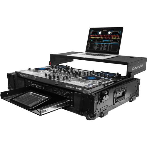 Odyssey Mcx8000 Case Odyssey Innovative Designsdj Controller Black Label Glide Style Case With Lower 19 2U Rack Space Black - Red One Music