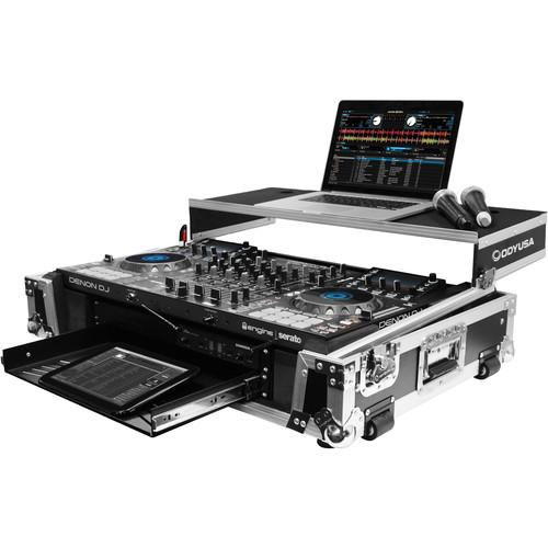 Odyssey Fzgsmcx8000W2 Mcx8000 Case Dj Controller Flight Zone Glide Style Case With Lower 19 2U Rack Space - Red One Music