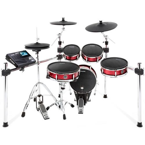 Alesis Strike Kit Eight-Piece Professional Electronic Drum Kit - Red One Music