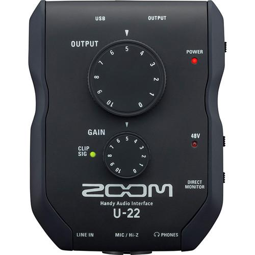 ZOOM U-22 USB MOBILE RECORDING AND PERFORMANCE INTERFACE