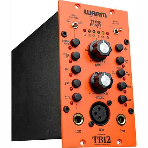 Warm Audio TB12-500 WARM AUDIOTB12500 - TONE BEAST Microphone Preamplifier For 500 Series Rack - Red One Music