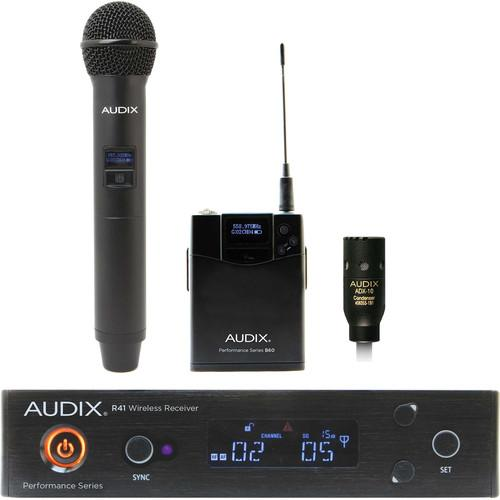 Audix Ap41 Om2 L10-B Handheld And Lavalier Wireless System - Red One Music