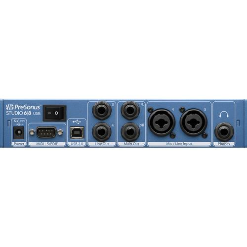 PreSonus STUDIO 68 192 Khz Usb 20 Audio Interface - Red One Music
