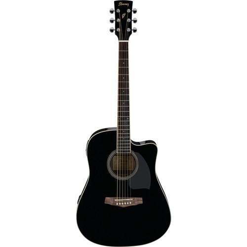 Ibanez Pf15Ece-Bk Black Acoustic Guitar - Red One Music