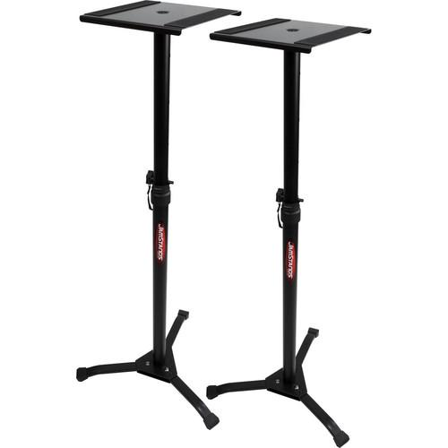 Ultimate Support JS-MS70+ Jamstands Series Studio Monitor Stands (Pair) - Red One Music
