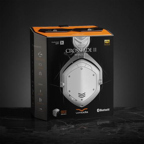 V-Moda Crossfade 2 Matte White Wireless Headphones - Red One Music