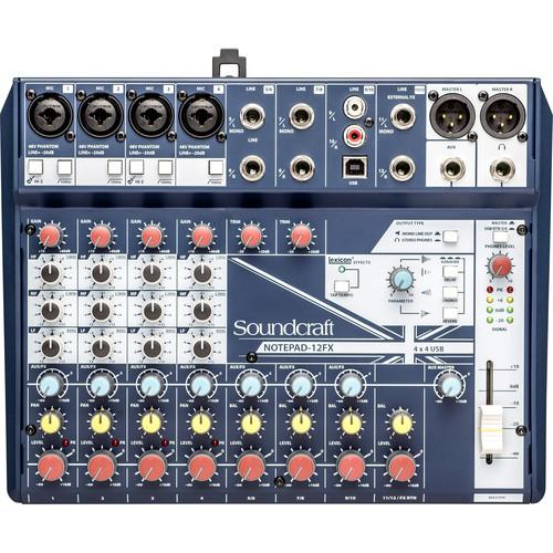 Soundcraft Notepad-12FX Analog Mixing Console - Red One Music