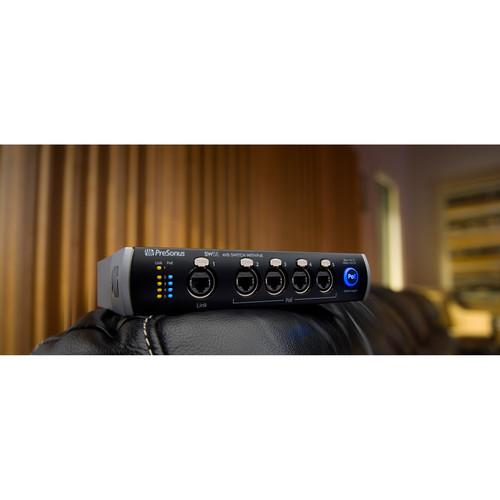 PreSonus SW5E 5-Port Avb Switch With PoE - Red One Music