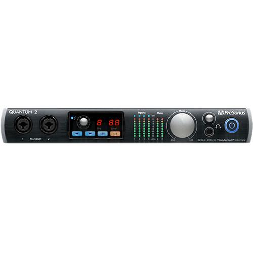PreSonus QUANTUM 2 22X24 Thunderbolt 2 Low-Latency Audio Interface - Red One Music