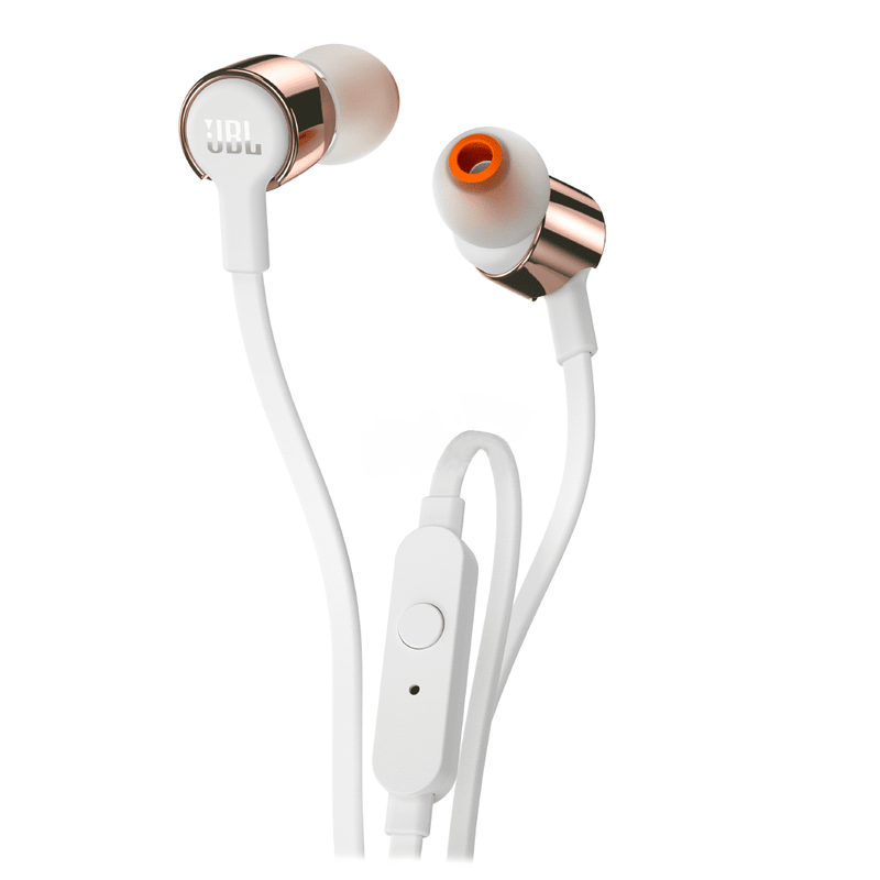JBL T210 Rose Gold In-Ear Headphones - Red One Music