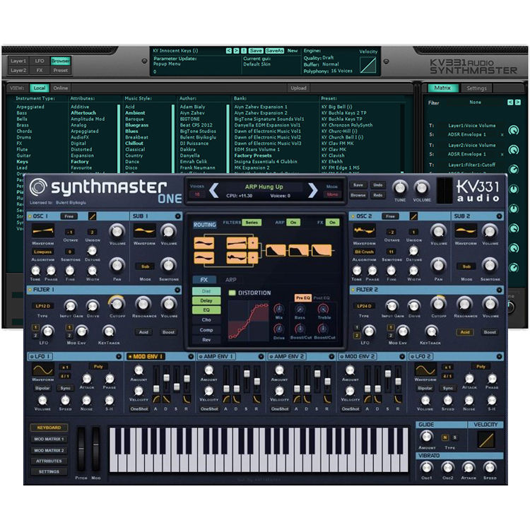 KV331 Audio SynthMaster 1 + 2 Bundle - Software Suite with SynthMaster One & SynthMaster 2.9 (Download)
