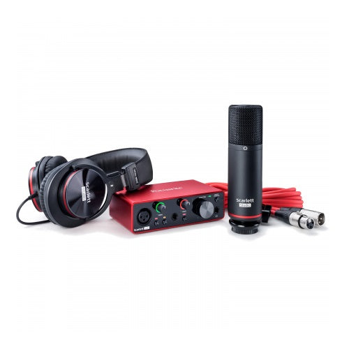 Focusrite SCARLETT SOLO STUDIO 3RD GEN w/Condenser Mic & HP60 Headphones - Red One Music