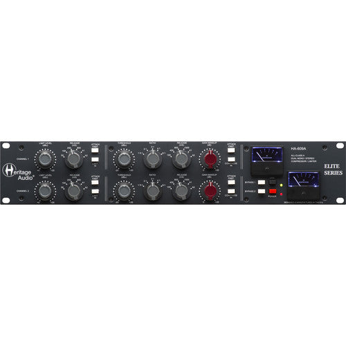Heritage Audio HA609A Dual-Channel Bus Compressor/Limiter - Red One Music