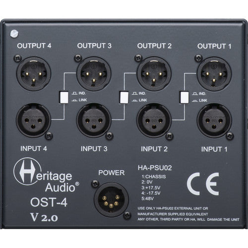 Heritage Audio OST4V2 4-slot 500 Series Chassis