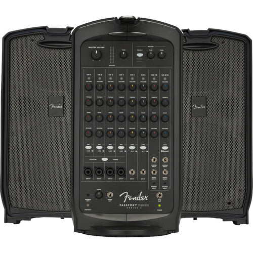 Fender PASSPORT VENUE SERIES 2 120V Portable Powered PA System (Black) - Red One Music