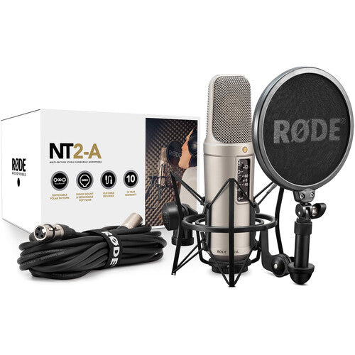 Rode NT2-A Large-Diaphragm Condenser Microphone With Shockmount
