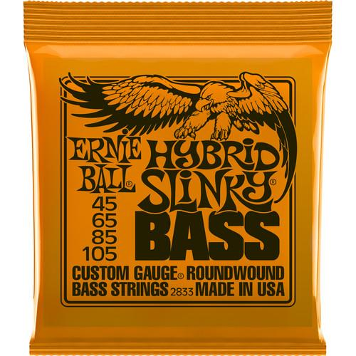 Ernie Ball Bass Hybrd Slinky 2833Eb Hybrid Slinky Nickel Wound Electric Bass Strings - Red One Music