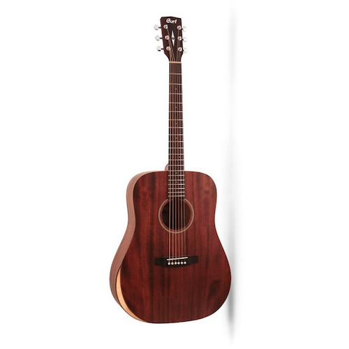 Cort EARTH-M-BEVELCUT-OP Dreadnought Acoustic Guitar - Red One Music
