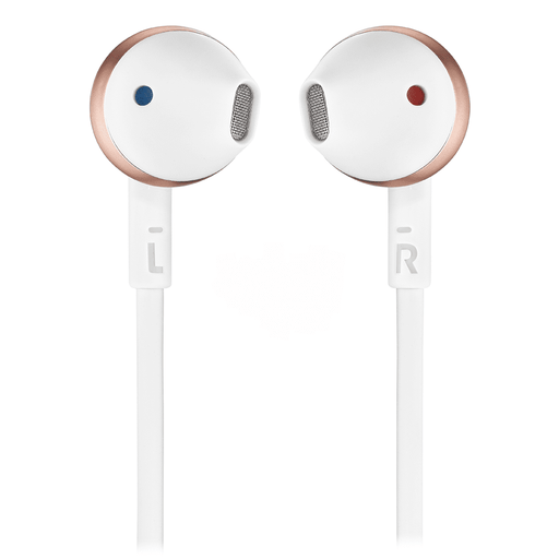 JBL T205 Rose Gold Earbud Headphones