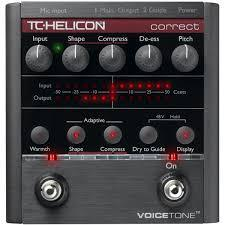 Tc Helicon Voicetone Correct Xt Vocal Effects Processor - Red One Music