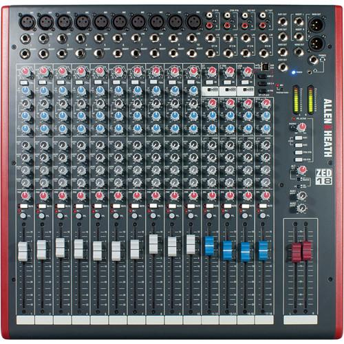 Allen  Heath Zed-18 18-Channel Recording And Live Sound Mixer With Usb Connection