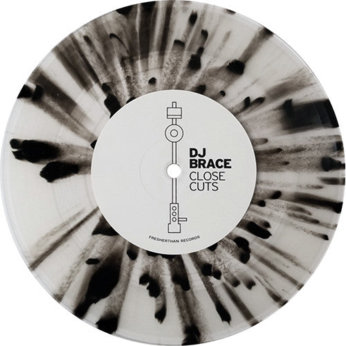 "Serato 7"" Serato Control Vinyl, DJ Brace, Close Cuts (Single, White and Black)"