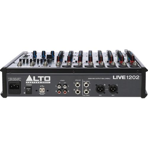 Alto Live 1202 12-Channel Sound Reinforcement Usb Mixer With Effects