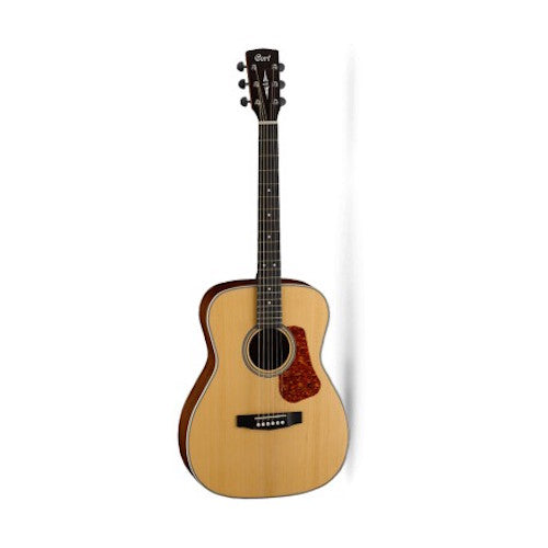 Cort L100C-NS Luce Series Acoustic Guitar Concert Body, Solid Spruce Top, Natural Satin - Red One Music