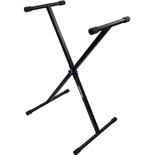 Ultimate Support Js-500C Jamstands Seriesx-Style Keyboard Stand - With Personalized Colored Accent Bands - Red One Music