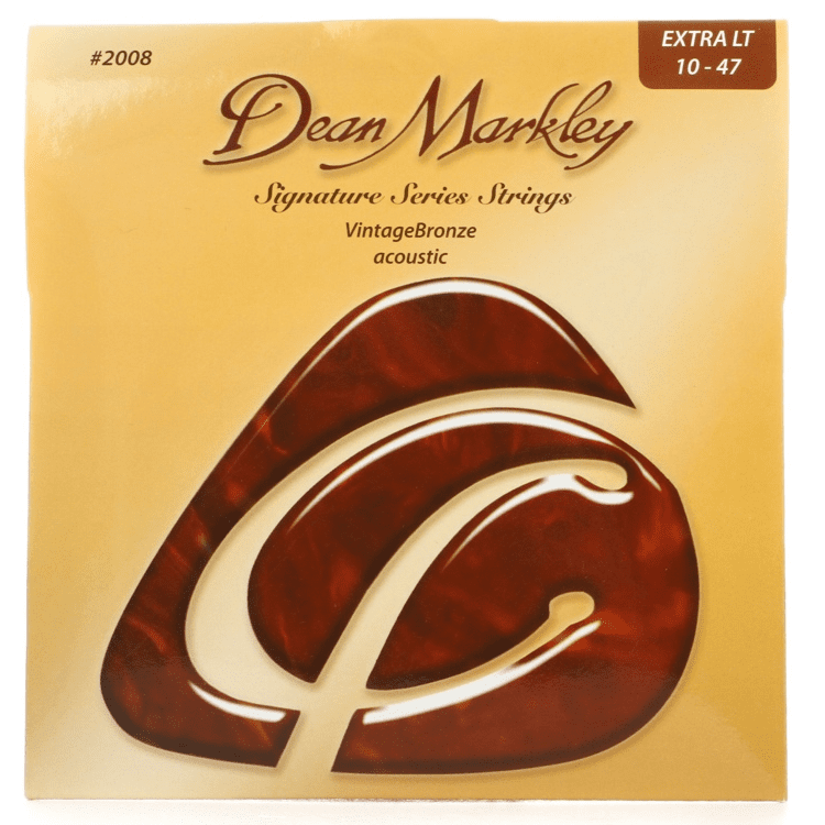 Dean Markley Dm2008 Extra Light Vintagebronze Acoustic Signature Series Guitar Strings 10-47 - Red One Music