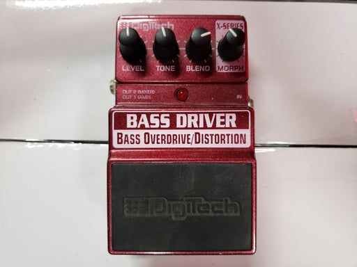 Digitech Bass Driver X-Series Bass Overdrive/Distortion Pedal USED - Red One Music