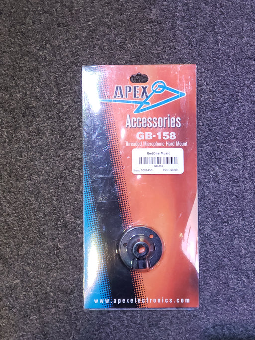 Apex GB-1587 Threaded Microphone Hard Mount - Red One Music