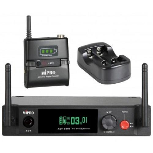 Mipro Act-2401Act-24Hc Wireless Microphone Set Single Channel Wireless Microphone Kit - Red One Music