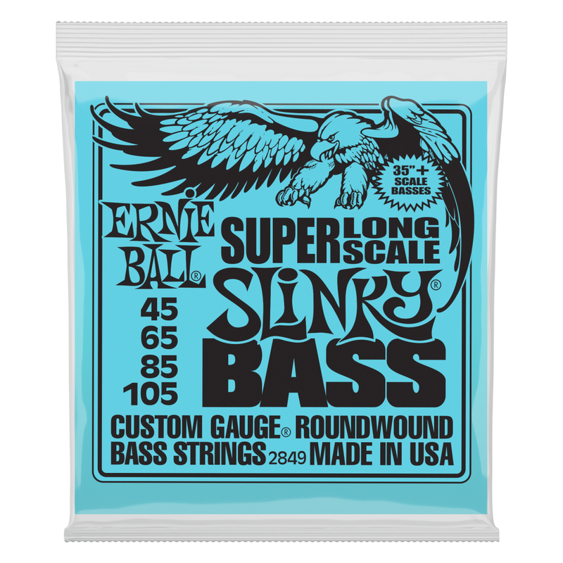 Ernie Ball 2849EB Super Long Scale Slinky Electric Bass Strings 45-105