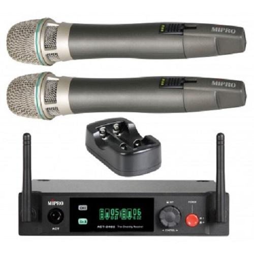 Mipro Act-2402Act-24Hc*2 Wireless Microphone Mp-20 Dual Channel Wireless Microphone Kit - Red One Music