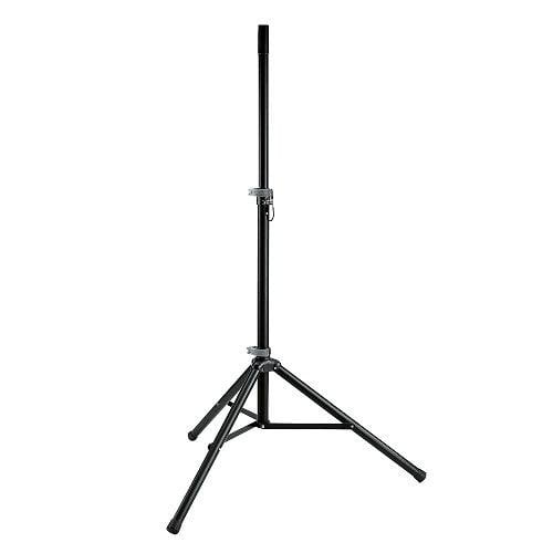K&M 21450 - Black Speaker Stand - Red One Music