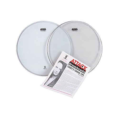 "Attack DHA14C 14"" 1-Ply Coated Medium Weight Batter Percussion Drum Head - Red One Music"