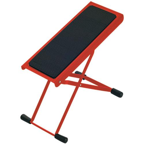 K&M 14670 Red  Height-Adjustable Footrest Red - Red One Music
