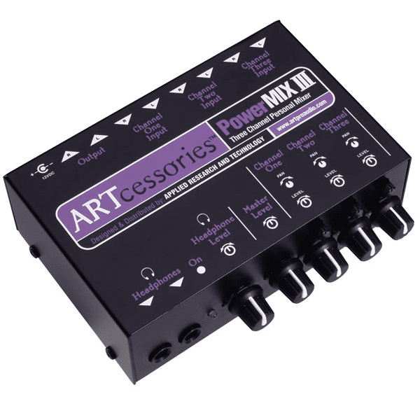 ART PWRMIX-3 3-CHANNEL STEREO MINI MIXER