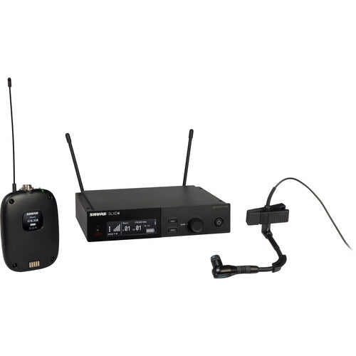 Shure SLXD14/98H Digital Wireless Cardioid Instrument Microphone System (G58: 470 to 514 MHz)
