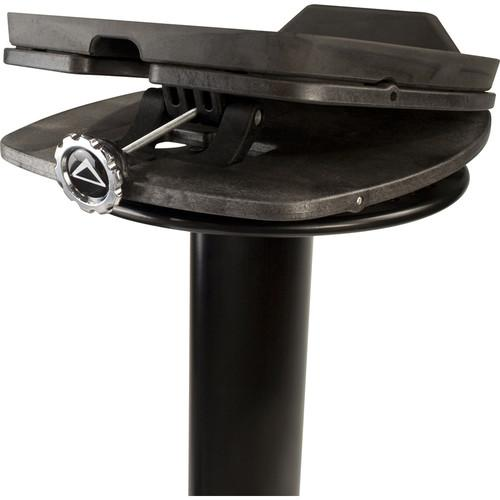 Ultimate Support Ms100B Second-Generation Column Studio Monitor Stands Black Pair - Red One Music