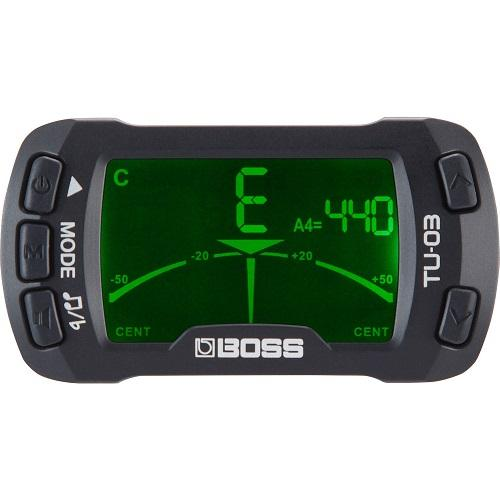 BOSS TU-03 CLIP-ON TUNER AMP METRONOME