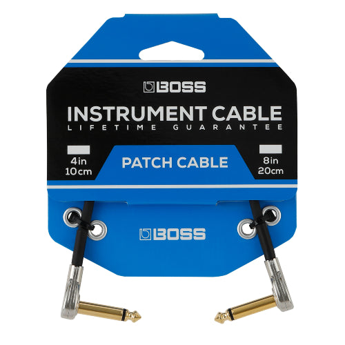 Boss BPC-8 Patch Cable with Pancake Jacks - 8""