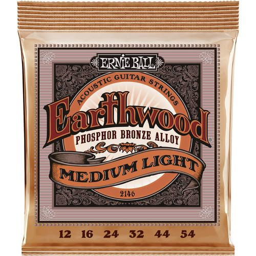 Ernie Ball Earthwd Phos Md-Lt 2146 Cordes de Guitare Acoustique Medium Light Phosphore Bronze de Bronze - 12 - 54