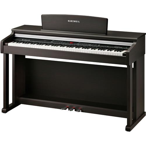 Kurzweil Ka150 Only Two Left 88-Key Digital Piano With Spinet-Style Cabinet Rosewood - Red One Music