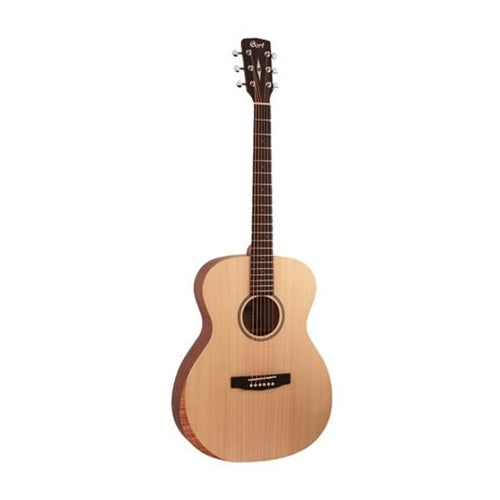 Cort LUCE-BEVELCUT-OP Luce Series Acoustic Guitar with Bevel Cut, Open Pore - Red One Music